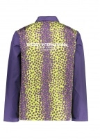 Leopard Panel Jacket - Purple