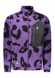 Billionaire Boys Club Leopard Zip Fleece - Purple