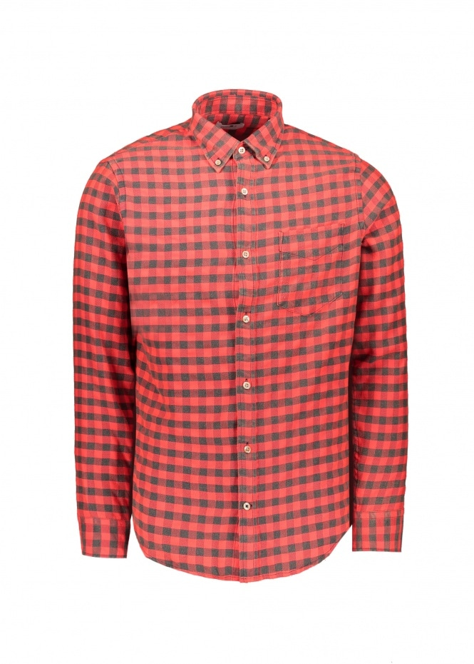 NN07 Levon Shirt - Pink Check
