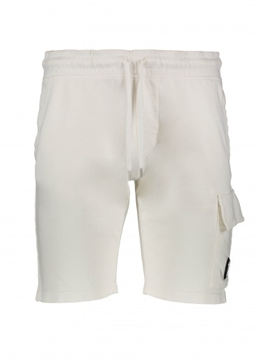 C.P. Company Light Fleece Sweatshorts - Off White
