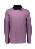 Lion LS Zip Polo - Purple