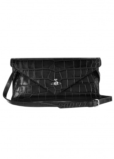 Vivienne Westwood Accessories Lisa Envelope Clutch - Black