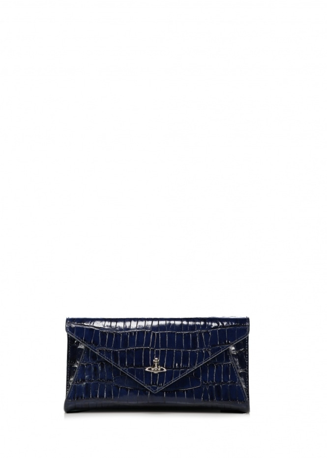 Lisa Envelope Clutch - Blue