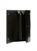 Lisa Long Card Holder - Black