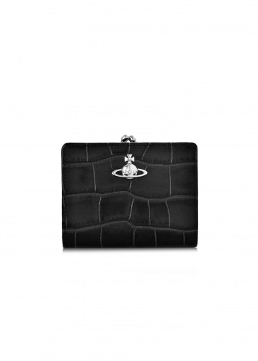 Vivienne Westwood Accessories Lisa Wallet Frame Pocket - Black