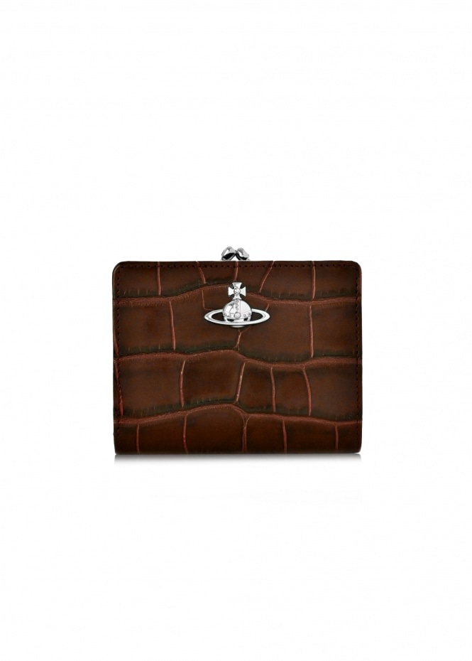 Lisa Wallet Frame Pocket - Brown