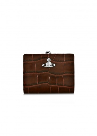 Vivienne Westwood Accessories Lisa Wallet Frame Pocket - Brown