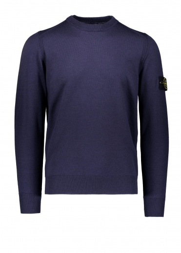 Stone Island Logo Patch Jumper - Ink