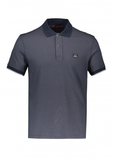 C.P. Company Logo Polo - Total Eclipse
