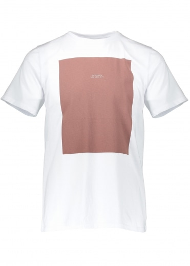 Saturdays NYC Logo Rectangle SS Tee - White