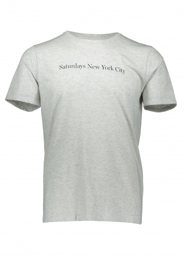 Saturdays NYC Logo SS Tee - Natural Heather