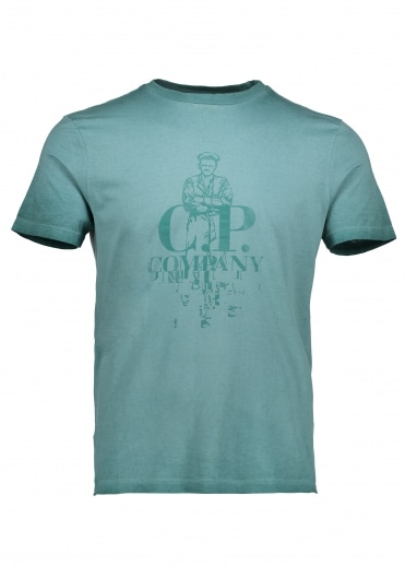 C.P. Company Logo T-Shirt - North Sea