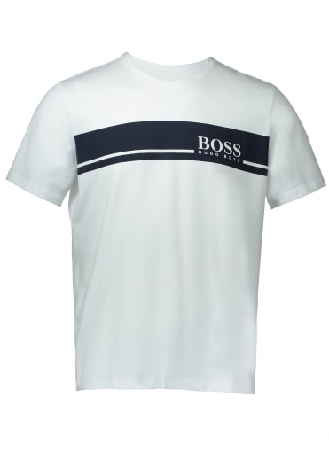 Hugo Boss Logo T-Shirt RN - White / Navy