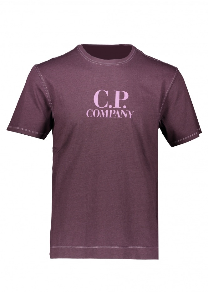 C.P. Company Logo Tee 727 - Striking Purple