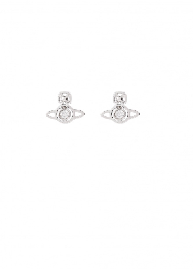 London Orb Earrings - Rhodium