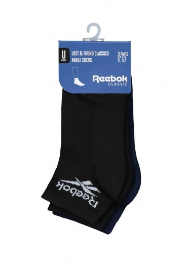 Reebok Lost & Found Socks - Black / Navy
