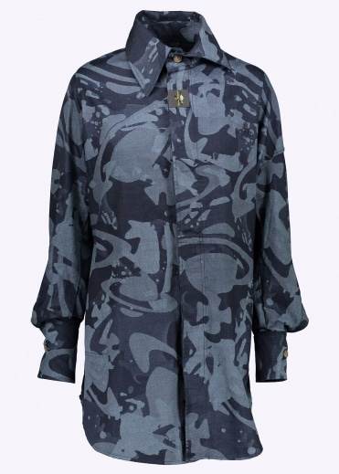 Vivienne Westwood Anglomania Lottie Shirt Dress - Blue