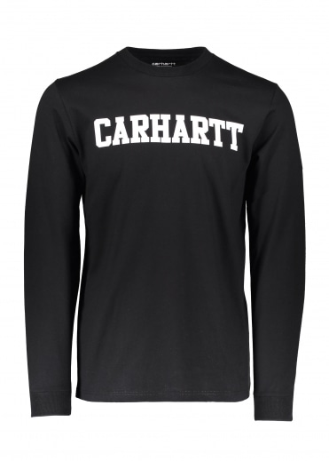 Carhartt LS College T-Shirt - Black / White