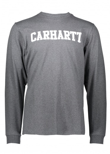 Carhartt LS College T-Shirt - Grey Heather