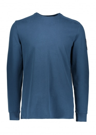 North Face LS Fine 2 Tee - Blue Wing Teal