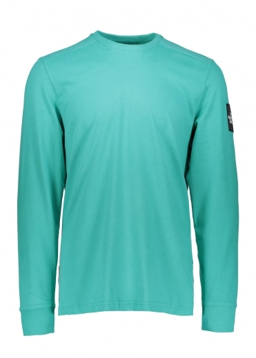 North Face LS Fine 2 Tee - Porcelain Green