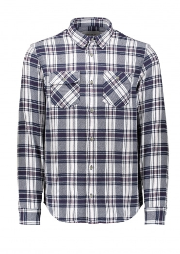 Carhartt LS Franklin Shirt - Snow / Blue