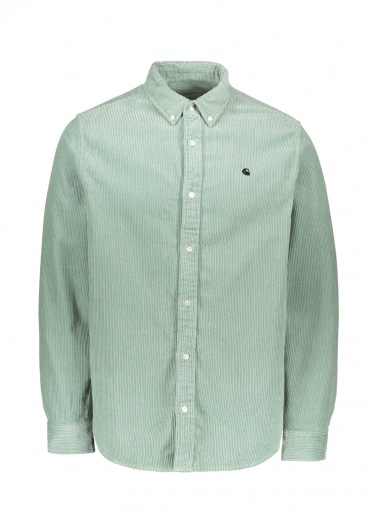 Carhartt LS Madison Cord Shirt - Frosted Green