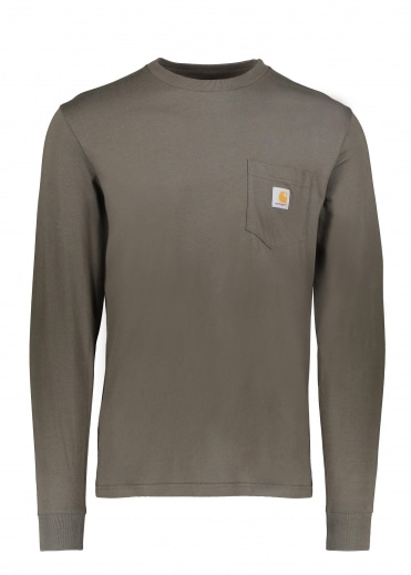 Carhartt LS Pocket T-Shirt - Cypress