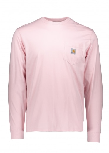 Carhartt LS Pocket T-Shirt - Sandy Rose