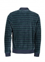 LS Stripe Polo - Meridian Blue