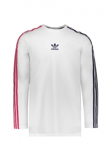 Adidas Originals Apparel LS Stripe Tee - White / Red