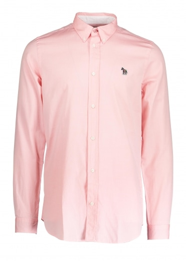 Paul Smith LS Tailored Fit Zebra Shirt - Pink