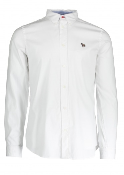 Paul Smith LS Tailored Fit Zebra Shirt - White