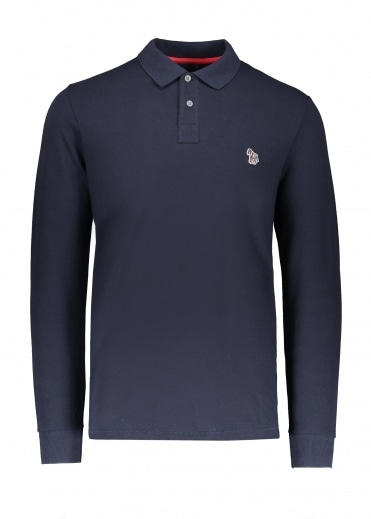 Paul Smith LS Zebra Polo Shirt - Dark Navy