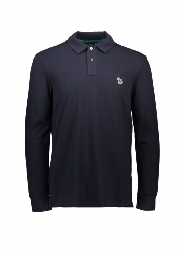 Paul Smith LS Zebra Polo Shirt - Dark Navy