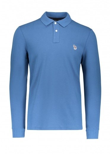 Paul Smith LS Zebra Polo Shirt - Petrol Blue