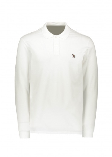 Paul Smith LS Zebra Polo - White