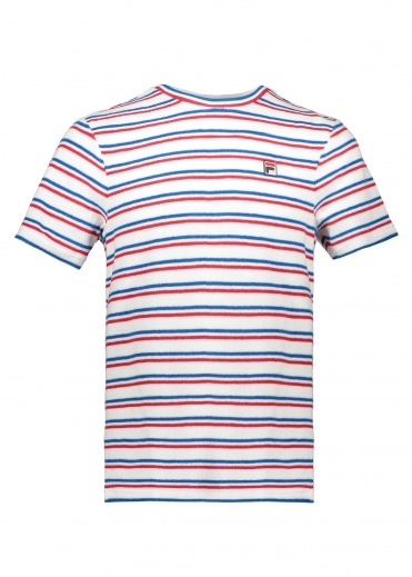 FILA Lucio Stripe Tee - White / Blue / Red