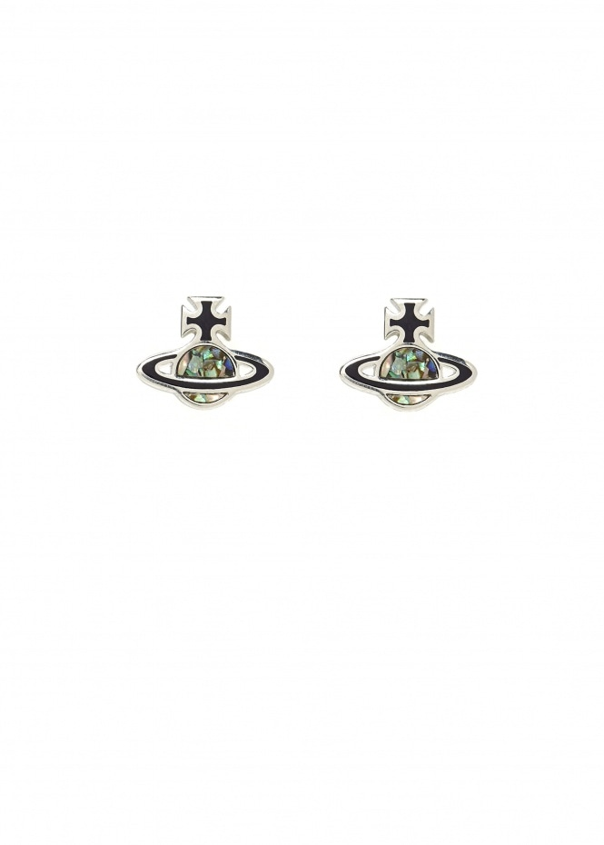 Madeline Earrings - Black / Paua