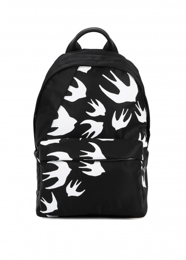 McQ by Alexander McQueen Classic Swallow Backpack - Black