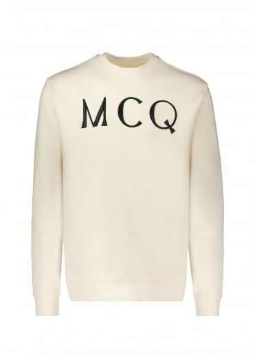 McQ by Alexander McQueen Logo Sweat - Oyster