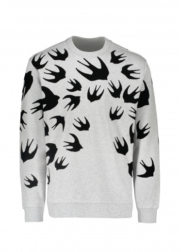 McQ by Alexander McQueen Swallow Pullover - Mercury