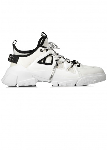McQ by Alexander McQueen Tech Runner Lace Wrap - White