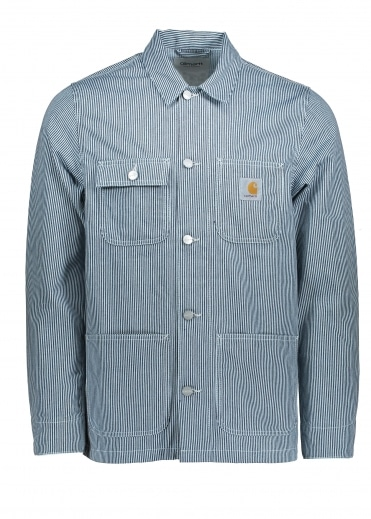 Carhartt Michigan Chore Coat - Blue / White