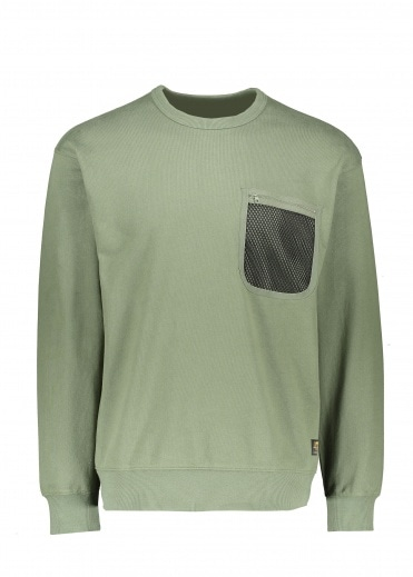 Carhartt Military Mesh Pocket Sweat - Dollar Green