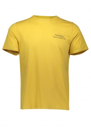 Saturdays NYC Miller Standard Chest SS Tee - Dusty Amber