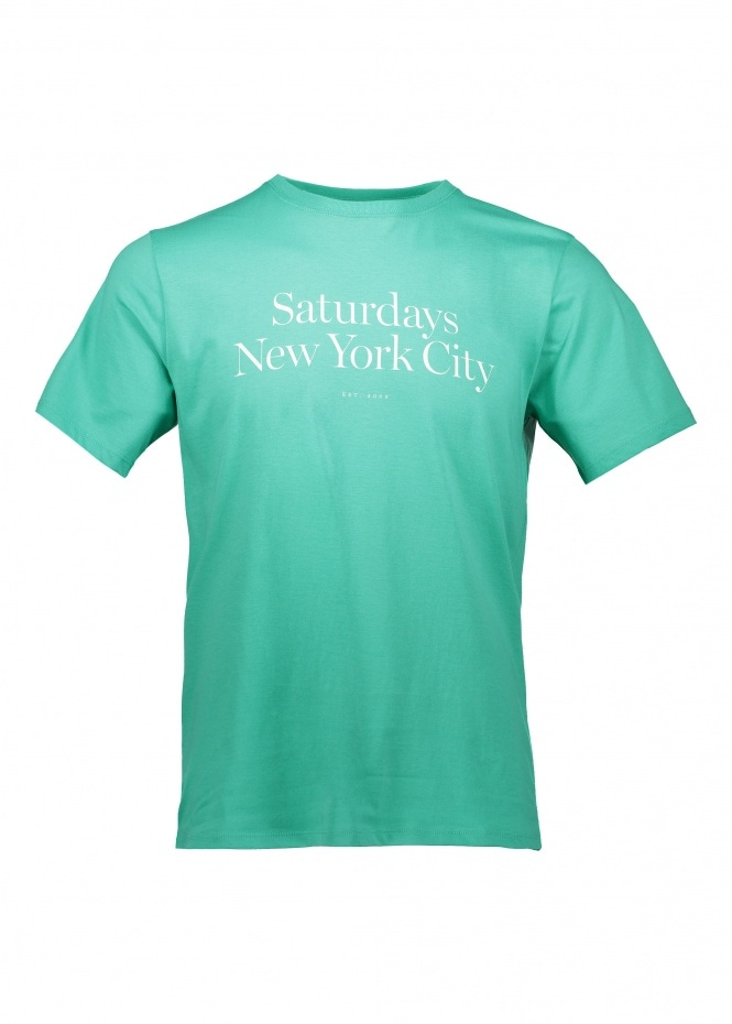 Saturdays NYC Miller Standard SS Tee - Seafoam Green