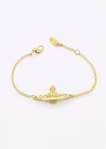 Vivienne Westwood Accessories Mini Bas Relief Bracelet Gold