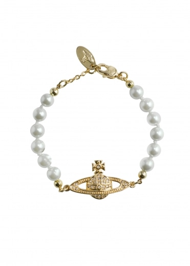 Vivienne Westwood Accessories Mini Bas Relief Bracelet - Gold