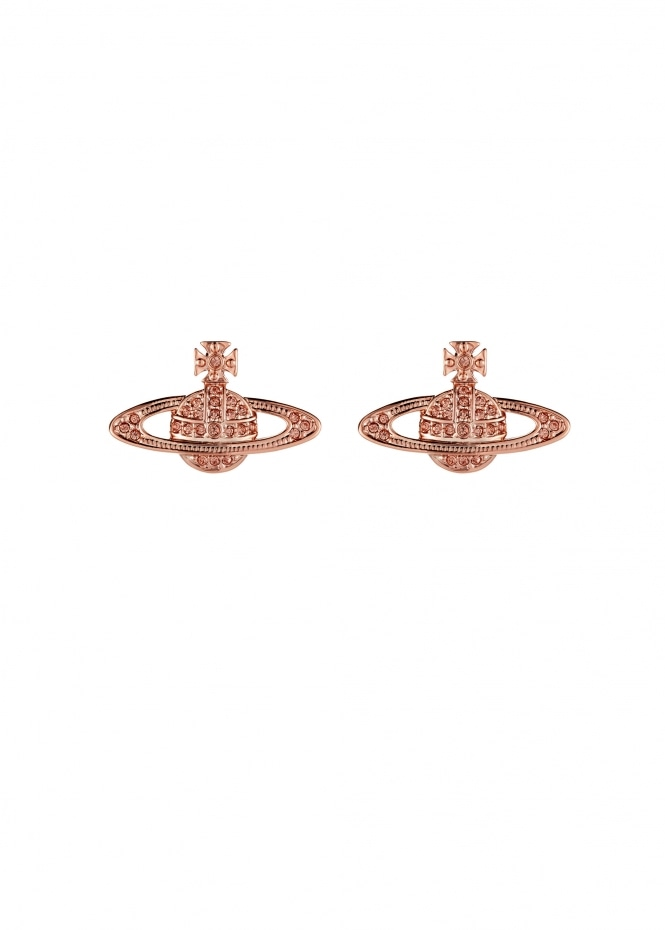 Mini Bas Relief Earrings - Pink Gold